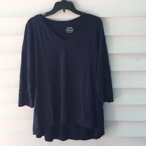Chico's navy blue XL ultimate tee NWOT